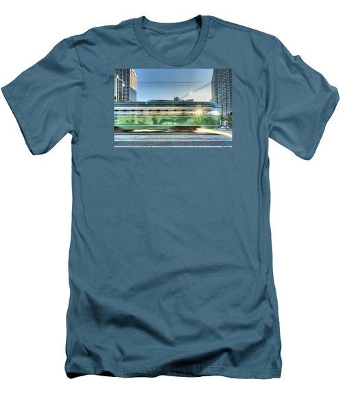 Men's T-Shirt (Slim Fit) featuring the photograph Flash Muni by Steve Siri