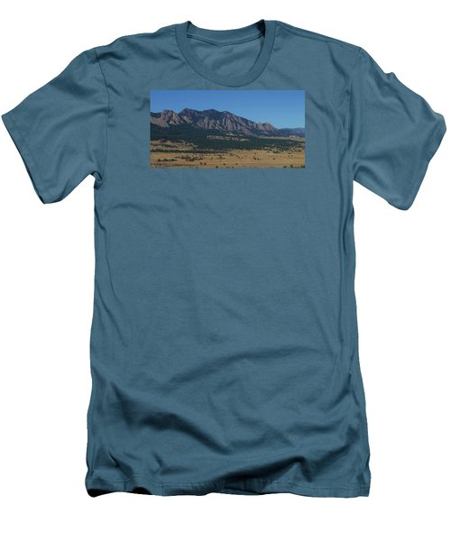 Flatirons Of Boulder Men's T-Shirt (Slim Fit) by Christopher Kirby