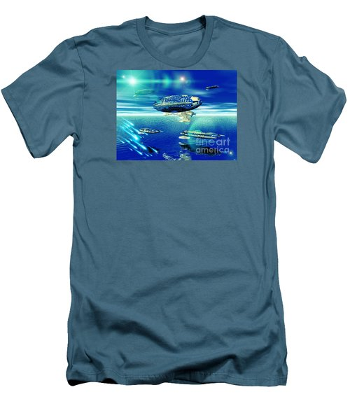 Fleet Aqua Men's T-Shirt (Slim Fit) by Jacqueline Lloyd