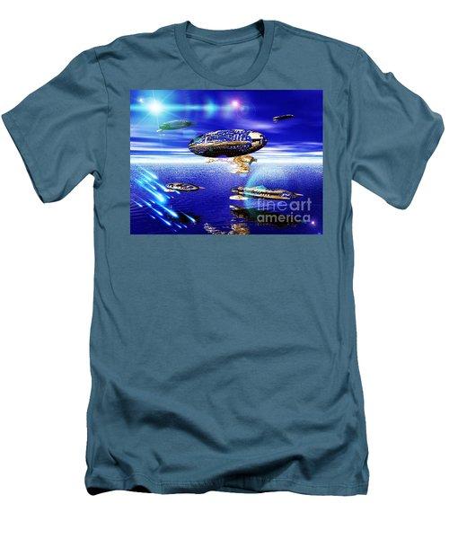 Men's T-Shirt (Slim Fit) featuring the digital art Fleet Lomo by Jacqueline Lloyd