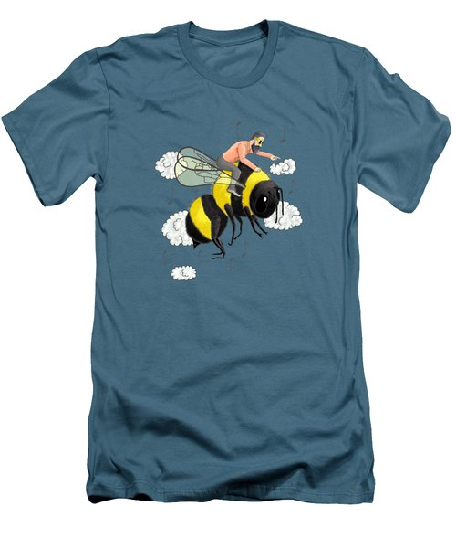 Flight Of The Bumblebee By Nicolai Rimsky Korsakov Men's T-Shirt (Athletic Fit)