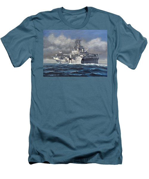 Men's T-Shirt (Slim Fit) featuring the painting Flight Ops by Stephen Roberson