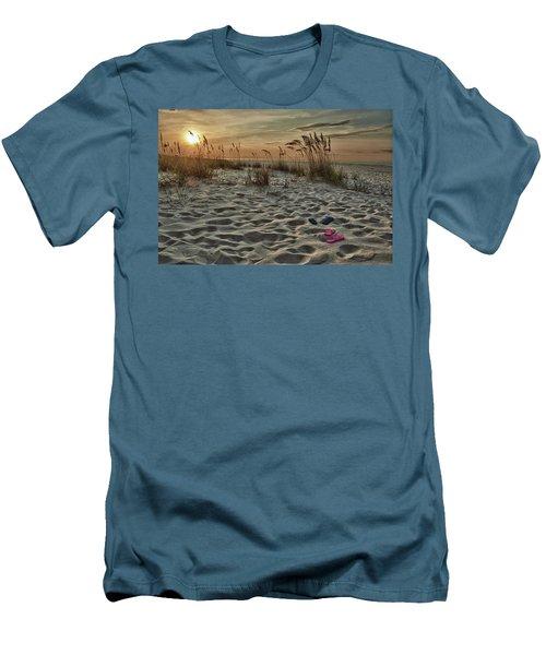 Flipflops On The Beach Men's T-Shirt (Slim Fit) by Michael Thomas