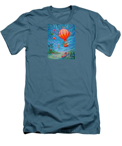 Floating Under The Sea Men's T-Shirt (Slim Fit) by Dee Davis