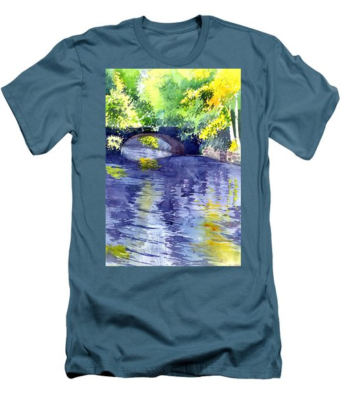 Men's T-Shirt (Slim Fit) featuring the painting Floods by Anil Nene