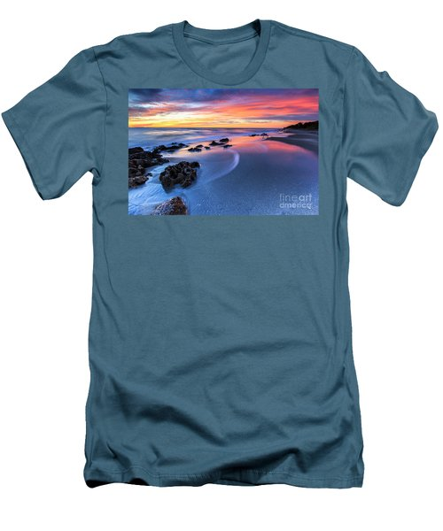 Florida Beach Sunset 4 Men's T-Shirt (Athletic Fit)