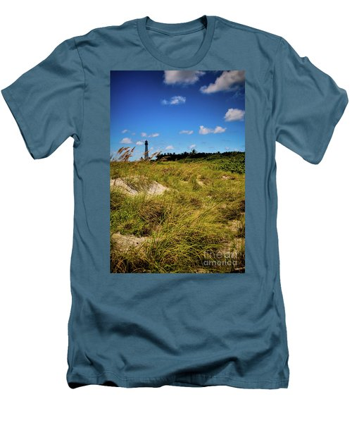 Florida Lighthouse  Men's T-Shirt (Slim Fit) by Kelly Wade