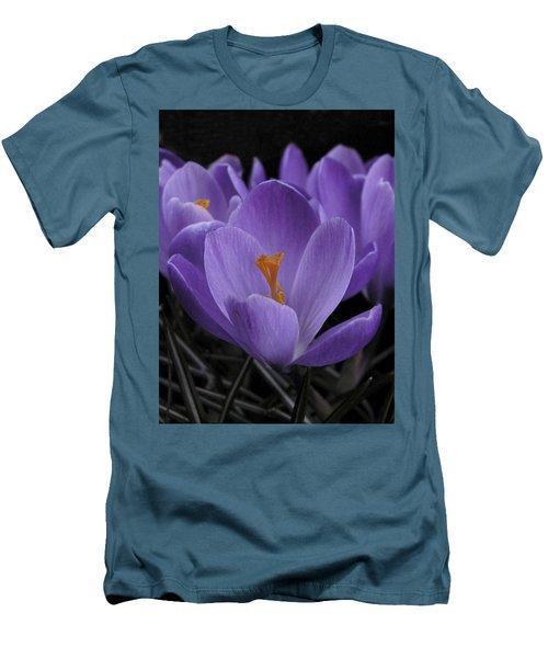 Flower Crocus Men's T-Shirt (Athletic Fit)