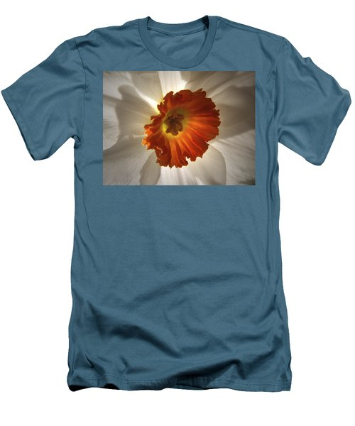 Flower Narcissus Men's T-Shirt (Slim Fit) by Nancy Griswold