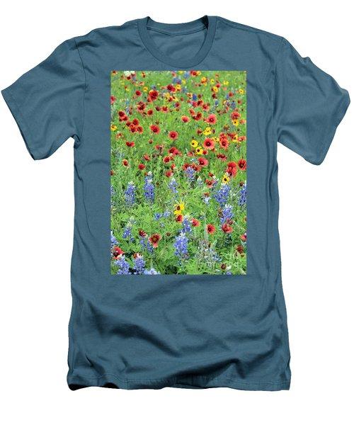 Flower Quilt Men's T-Shirt (Slim Fit) by Joe Jake Pratt