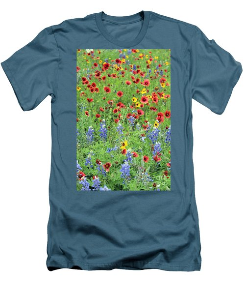 Flower Quilt Men's T-Shirt (Athletic Fit)