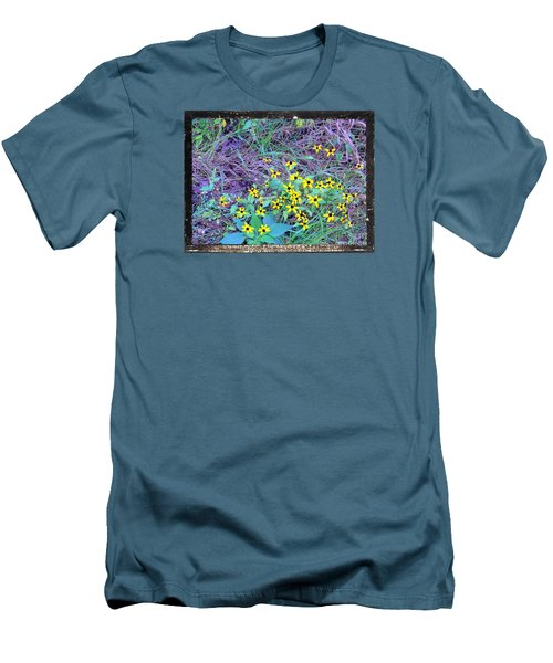 Men's T-Shirt (Slim Fit) featuring the photograph Flowers Gone Wild by Shirley Moravec