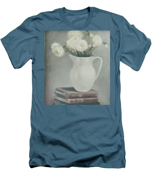 Flowers On Old Books Men's T-Shirt (Athletic Fit)