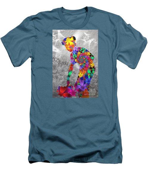 Flowerwoman Men's T-Shirt (Athletic Fit)