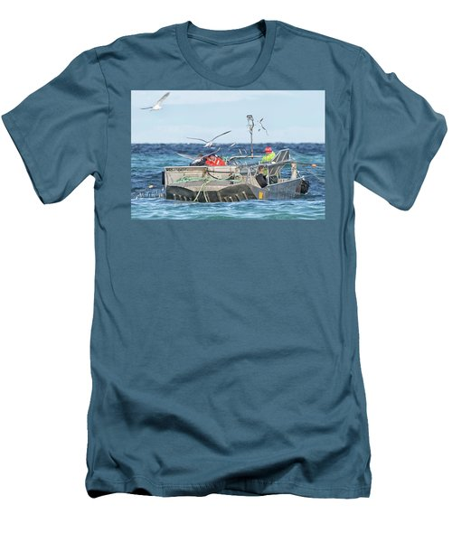 Men's T-Shirt (Slim Fit) featuring the photograph Flying Fish by Randy Hall