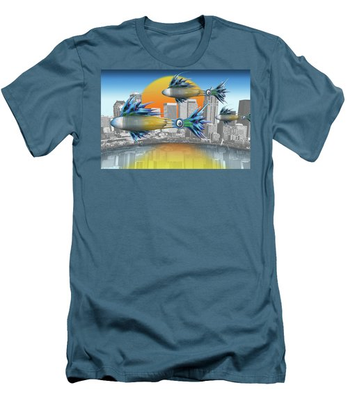 Flying Fisque  Men's T-Shirt (Slim Fit) by Steve Sperry