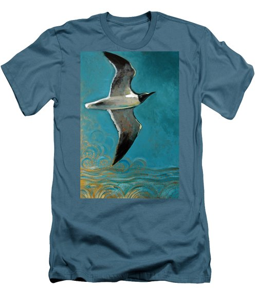 Men's T-Shirt (Slim Fit) featuring the painting Flying Free by Suzanne McKee