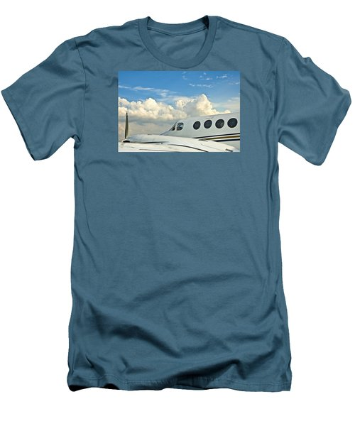 Men's T-Shirt (Slim Fit) featuring the photograph Flying Time by Carolyn Marshall