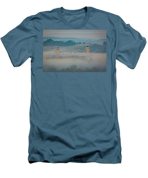 Fog At Old Main Men's T-Shirt (Athletic Fit)