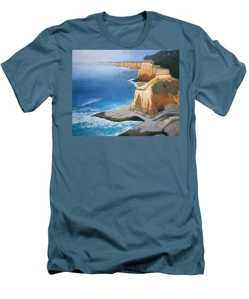 Men's T-Shirt (Slim Fit) featuring the painting Fog Burning Off by Gary Coleman