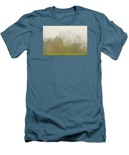 Men's T-Shirt (Slim Fit) featuring the photograph Fog In Autumn by Wanda Krack