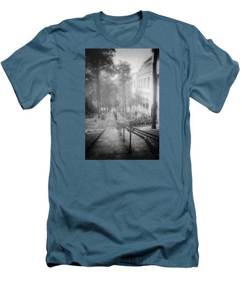 Fog In Montmartre Men's T-Shirt (Slim Fit) by John Rivera