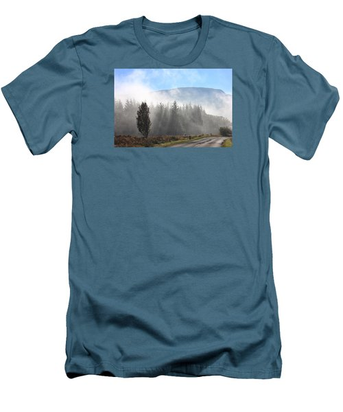 Men's T-Shirt (Slim Fit) featuring the photograph Fog On The Road To Fintry by RKAB Works