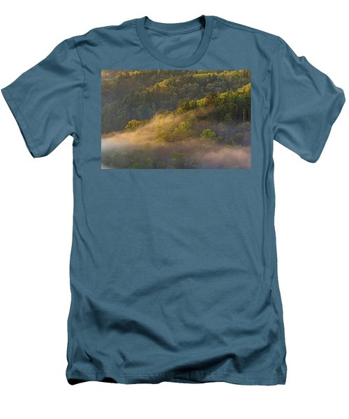 Fog Playing In The Forest Men's T-Shirt (Slim Fit)