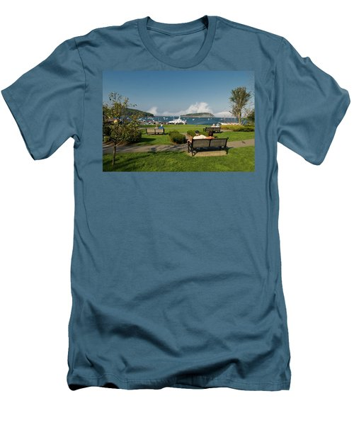 Fog Show Over The Porcupine Islands Men's T-Shirt (Athletic Fit)