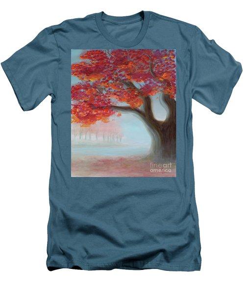 Foggy Autumn Men's T-Shirt (Athletic Fit)