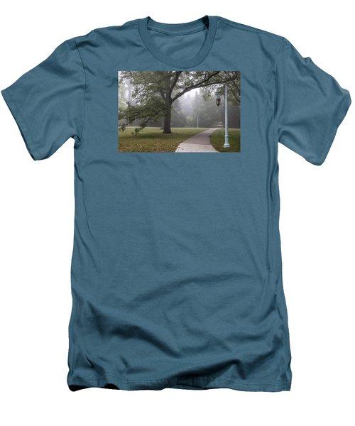 Foggy Campus  Men's T-Shirt (Slim Fit) by John McGraw