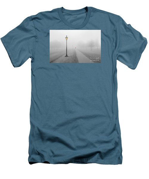Foggy Day In France Men's T-Shirt (Slim Fit) by Jim  Hatch