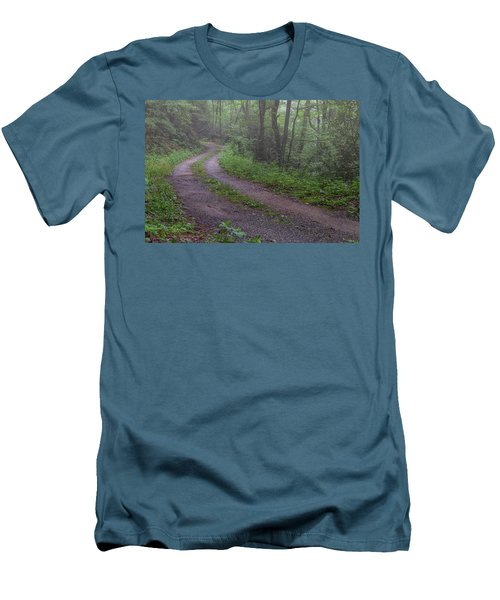 Foggy Road Men's T-Shirt (Slim Fit) by David Cote