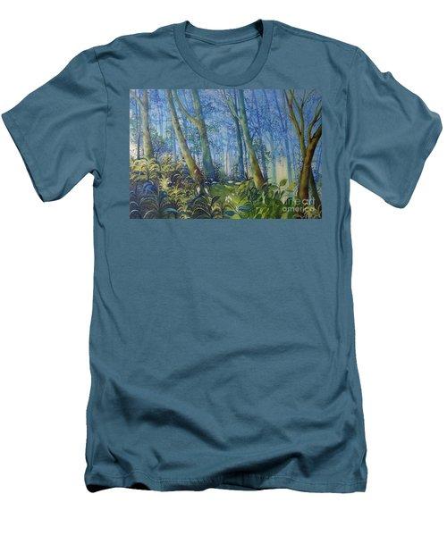 Follow Me Oil Painting Of A Magic Forest Men's T-Shirt (Slim Fit) by Maja Sokolowska