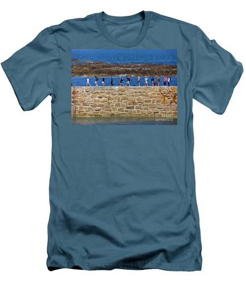 Men's T-Shirt (Slim Fit) featuring the photograph Follow The Yellow Brick Road by Terri Waters