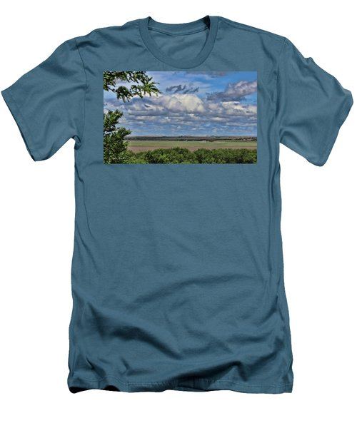 For Spacious Skies Men's T-Shirt (Slim Fit) by Sylvia Thornton