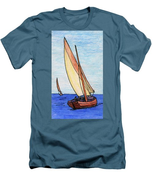 Force Of The Wind On The Sails Men's T-Shirt (Slim Fit) by R Kyllo
