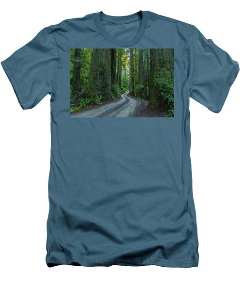 Forest Road. Men's T-Shirt (Slim Fit) by Ulrich Burkhalter