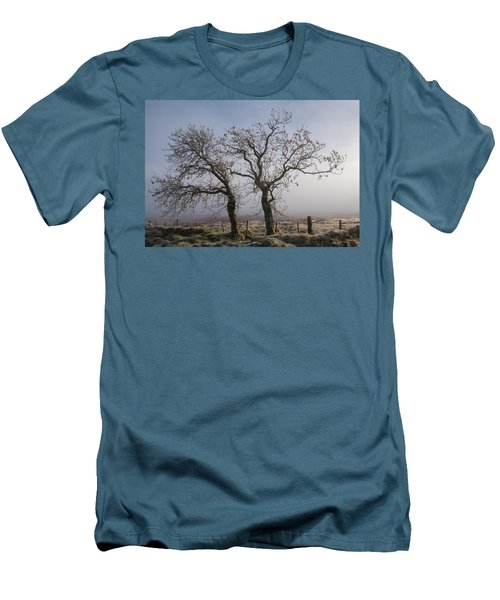 Men's T-Shirt (Athletic Fit) featuring the photograph Forever Buddies Facing The Fog by Jeremy Lavender Photography