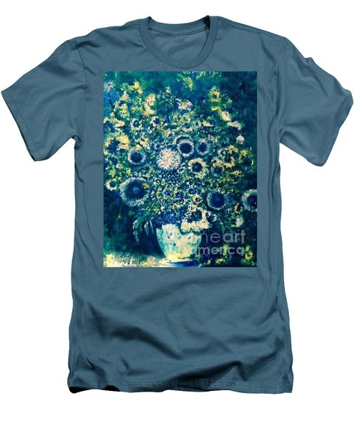Men's T-Shirt (Athletic Fit) featuring the photograph Forget Me Knot by Laurie L