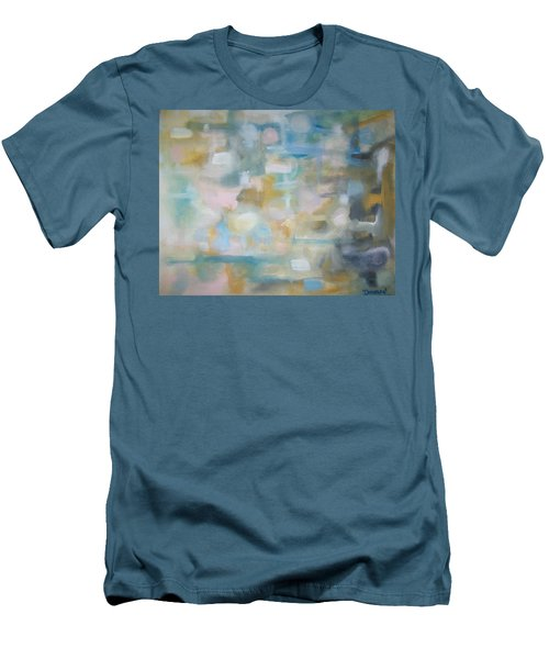 Men's T-Shirt (Slim Fit) featuring the painting Forgetting The Past by Raymond Doward