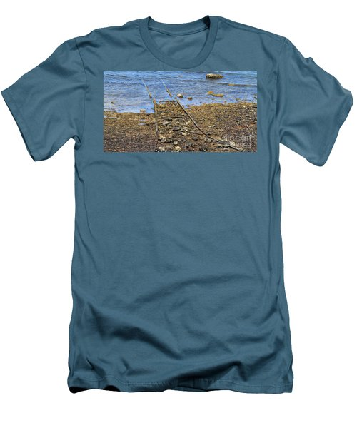 Men's T-Shirt (Slim Fit) featuring the photograph Forgotten Line II by Stephen Mitchell