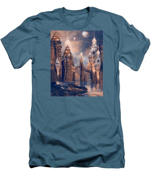 Men's T-Shirt (Slim Fit) featuring the digital art Forgotten Place by Alexa Szlavics