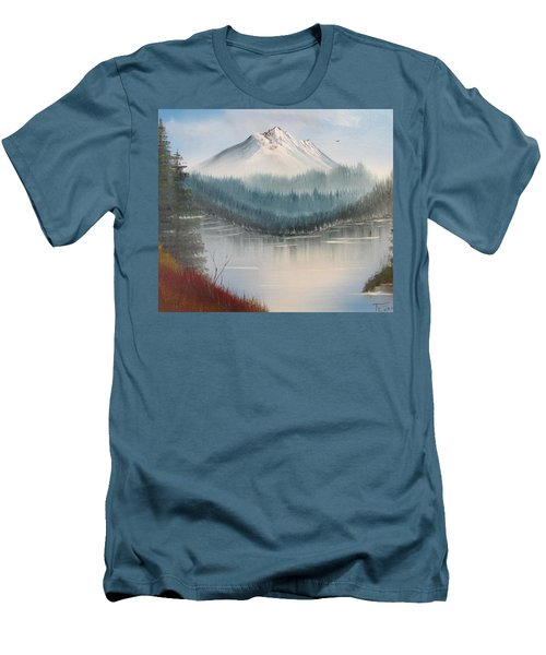 Fork In The River Men's T-Shirt (Slim Fit) by Thomas Janos