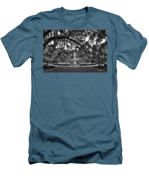 Forsyth Park Fountain 2 Savannah Georgia Art Men's T-Shirt (Slim Fit) by Reid Callaway