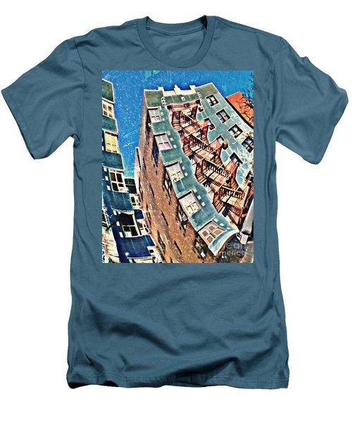 Fort Washington Avenue Building Men's T-Shirt (Slim Fit) by Sarah Loft