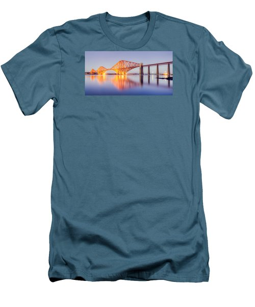 Forth Bridge Sunset Men's T-Shirt (Slim Fit) by Ray Devlin