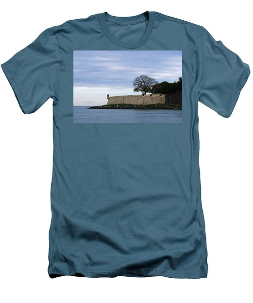 Fortress Wall Men's T-Shirt (Slim Fit) by Lois Lepisto