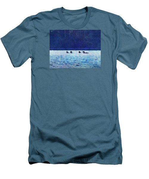 Four Loons On Parker Pond Men's T-Shirt (Athletic Fit)