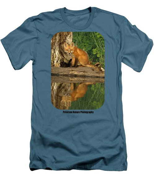 Fox Reflection Shirt Men's T-Shirt (Slim Fit) by James Peterson